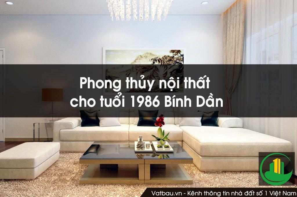 Phong thủy nội thất cho người sinh năm 1986 Bính Dần