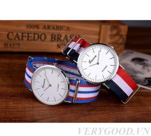 Đồng hồ đeo tay dây vải giá rẻ Geneva PKHRGE 002 -1
