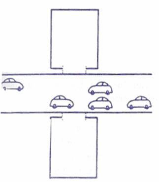 hóa giải cửa đối cửa - Đường to nhiều xe - Không bị coi là xung sát
