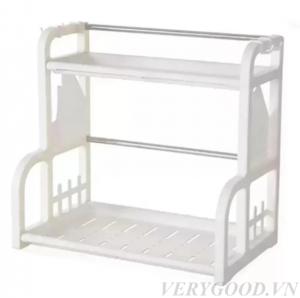 Màu trắng của kệ đựng đồ mang lại cảm giác lịch sự, sạch sẽ cho không gian căn bếp nhà bạn.