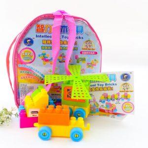 Đồ chơi xếp hình 66 chi tiết giúp bé co thể thỏa sức sáng tạo, phát triển tư duy