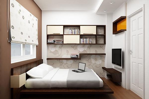 Thiết kế phòng ngủ gam màu trắng