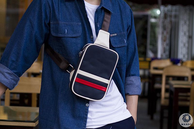 Túi đeo chéo nam cũng có khá nhiều kiểu dáng khác nhau