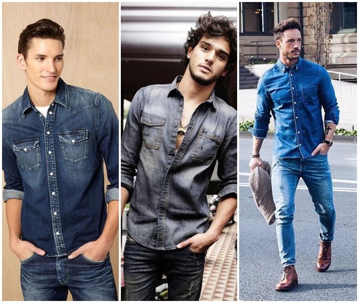 Quần jeans và áo sơ mi denim - item thời trang năng động, phong cách