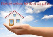 Kinh doanh hiệu quả với việc thiết kế web bất động sản giá rẻ