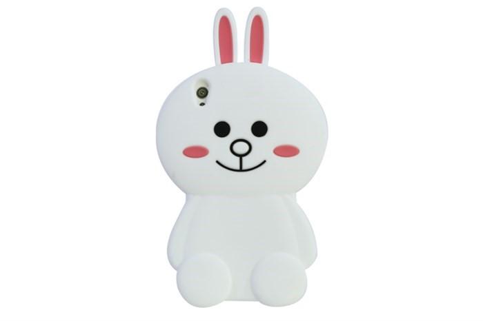 Ốp điện thoại chú thỏ trắng xinh đẹp cùng dế iu