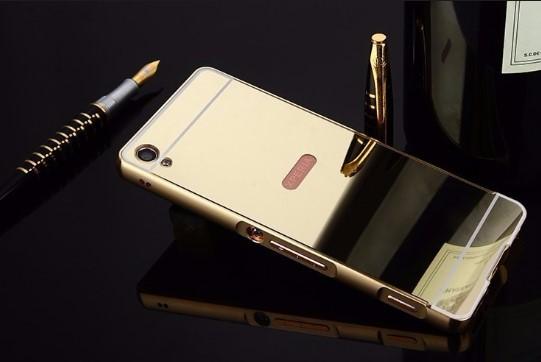 Ốp Sony Xa tráng gương viền kim loại