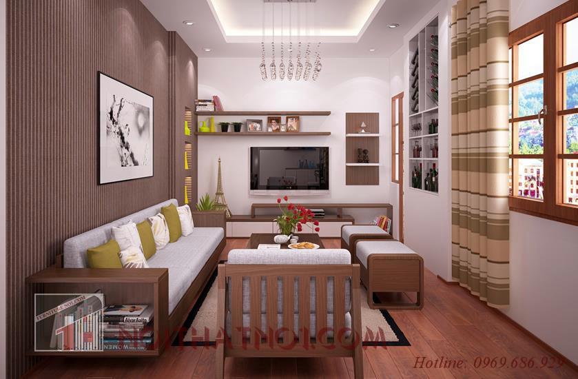 Mẫu bàn ghế gỗ phù hợp nhà chung cư