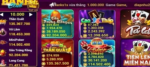 Thế giới game bài đa dạng tại Banh Win mang đến nhiều trải nghiệm mới lạ cho người chơi