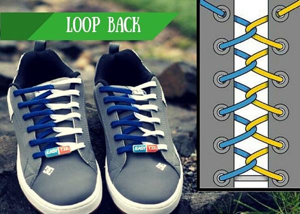 Buộc dây giày 2 màu kiểu Loopback
