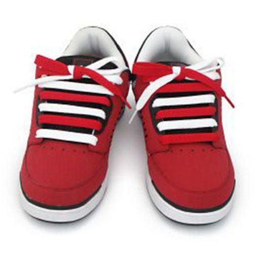 Thắt dây giày 2 màu song song